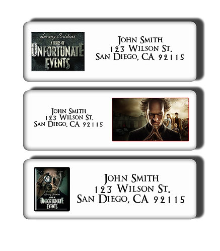 A Series of Unfortunate Events Labels