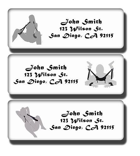 Bondage Silhouettes Labels
