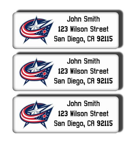 Columbus Bluejackets Labels