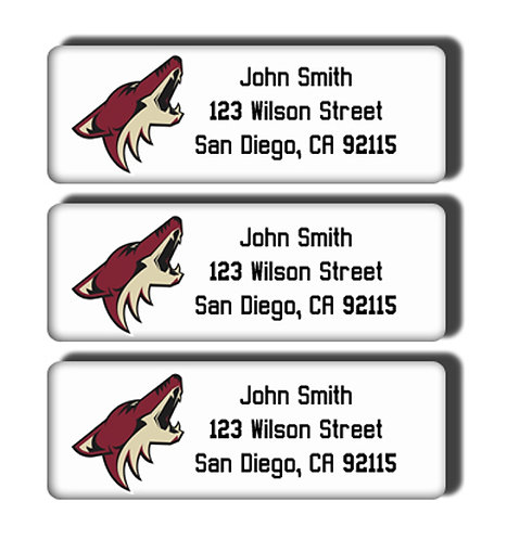 Arizona Coyotes Labels