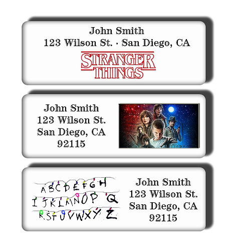 Stranger Things Labels