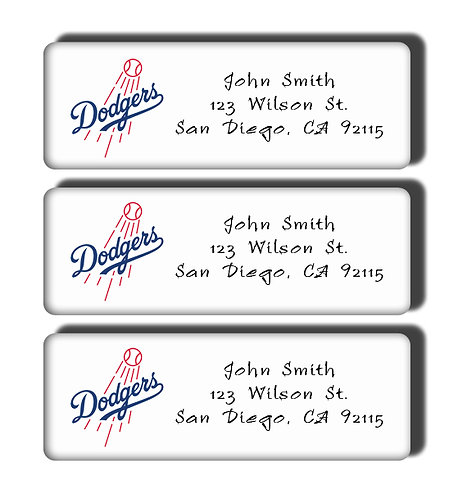 Los Angeles Dodgers Labels