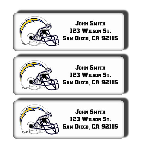 Los Angeles Chargers Labels