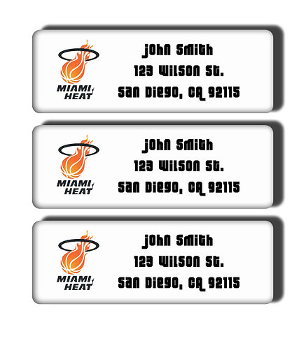 Miami Heat Throwback Labels