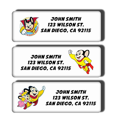 Mighty Mouse Labels