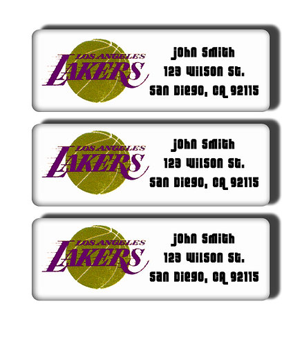 Los Angeles Lakers Throwback Labels