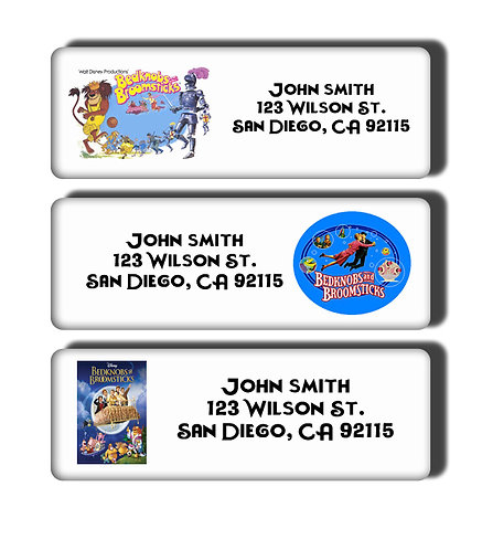 Bedknobs and Broomsticks Labels