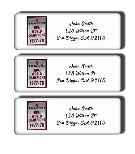 Washington Bullets - 1978 NBA Championship Labels
