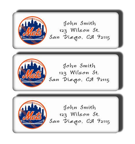 New York Mets Labels