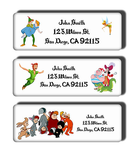 Peter Pan Labels