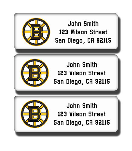 Boston Bruins Labels