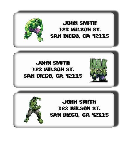 Incredible Hulk Labels