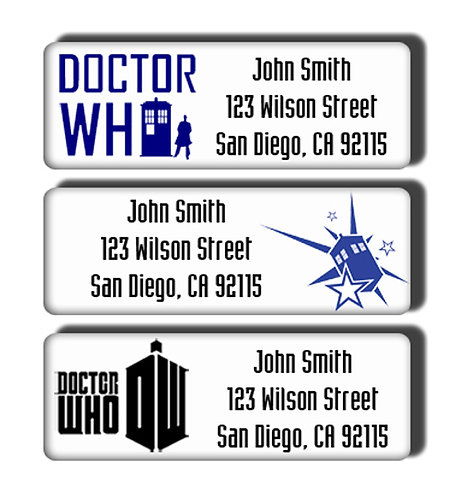 Dr. Who Labels