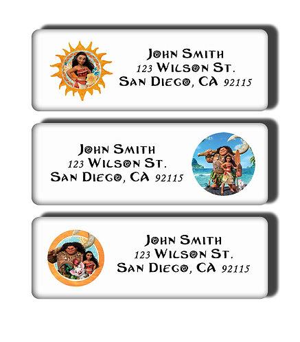 Moana Labels
