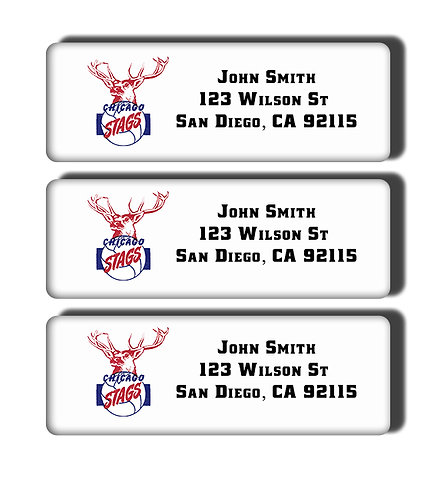Chicago Stags Labels