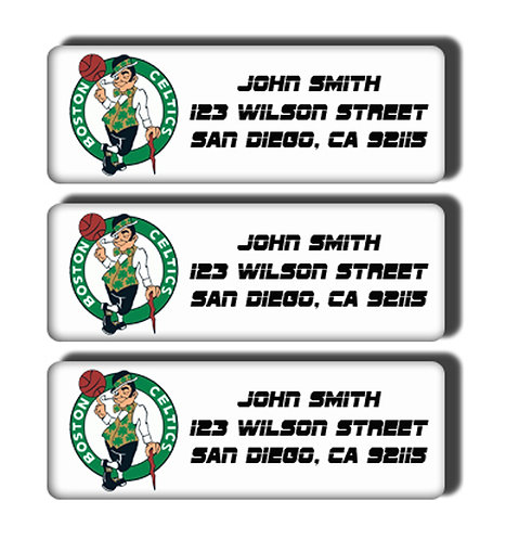 Boston Celtics Labels