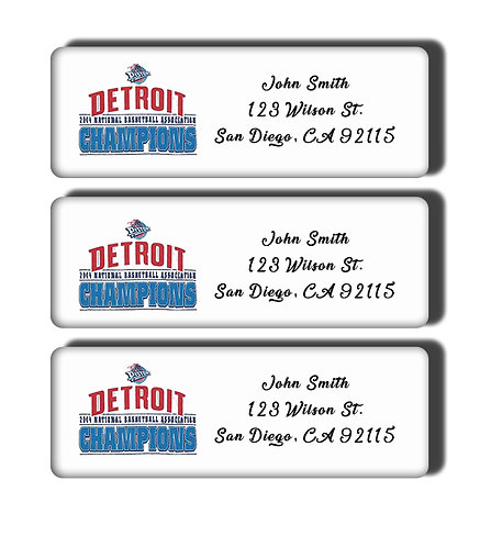 Detroit Pistons - 1989-2004 NBA Championship Labels