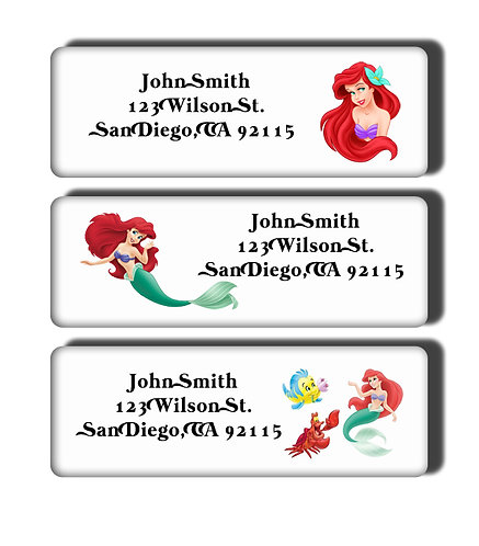 The Little Mermaid Labels