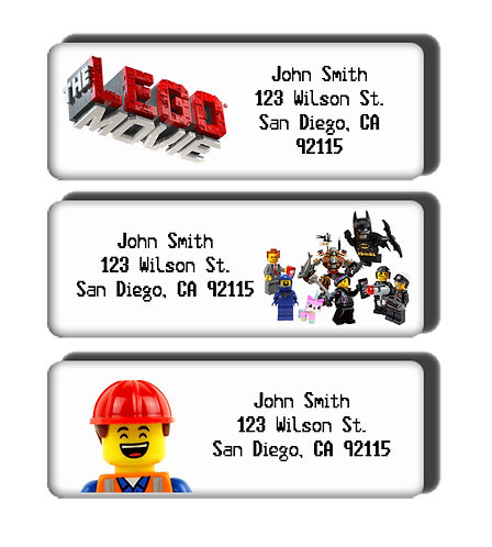 The Lego Movie Labels