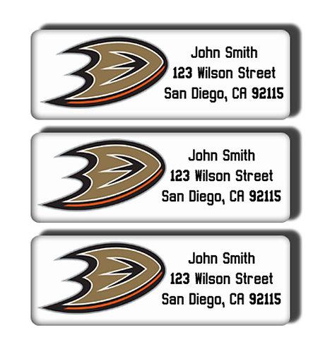 Anaheim Ducks Labels