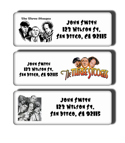 Three Stooges Labels