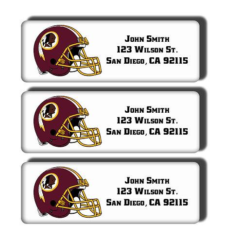 Washington Redskins Labels