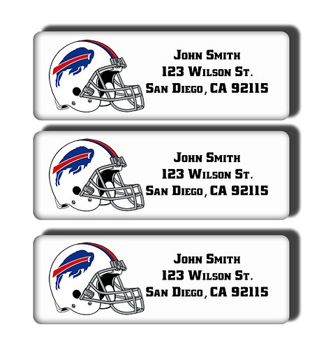 Buffalo Bills Labels