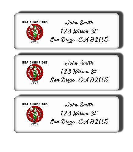 Boston Celtics - 1957-1969 NBA Championship Labels