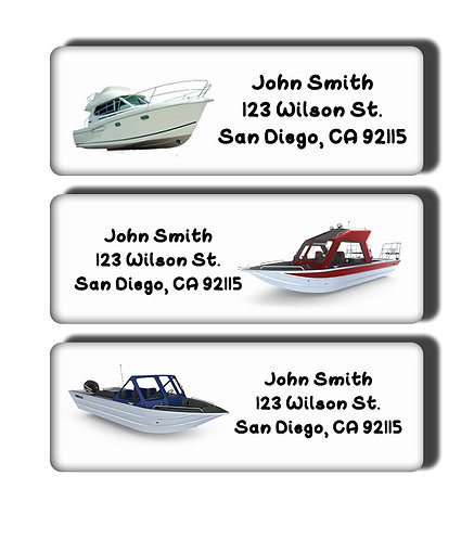 Boats Labels