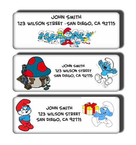 Smurfs Labels