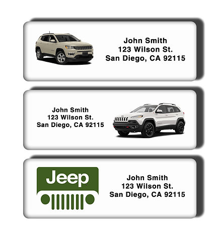 Jeep Wrangler Grand Cherokee Compass Labels