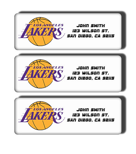 Los Angeles Lakers Labels
