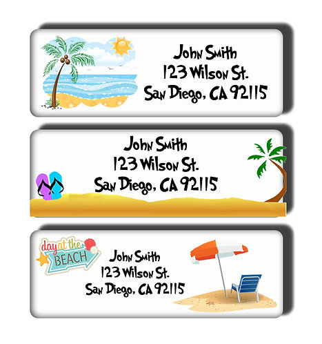 Beach Scene Labels