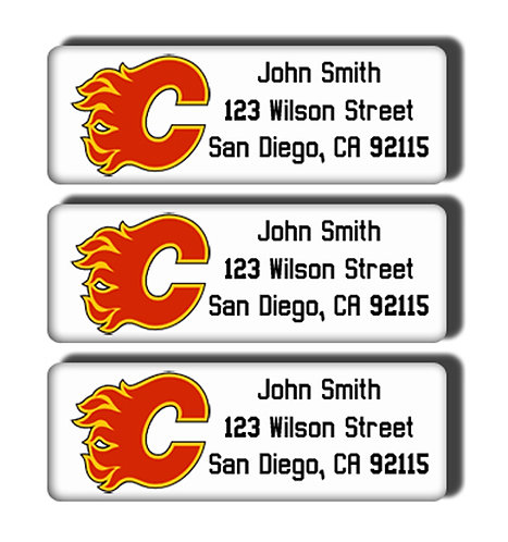 Calgary Flames Labels