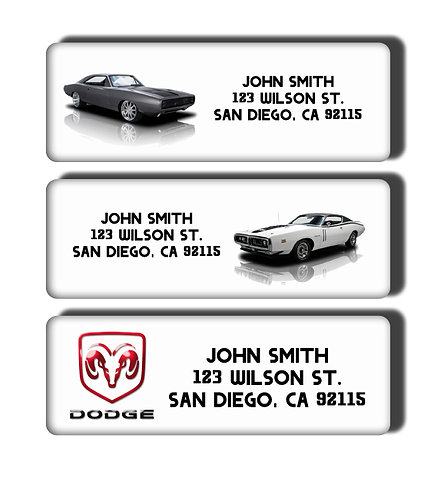 Dodge Charger New and Classic Muscle Cars Labels