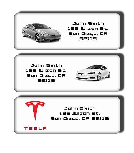 Tesla Cars Labels