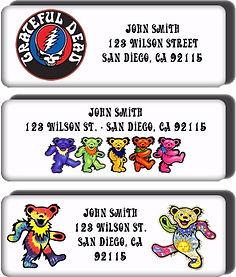 Grateful Dead return address labels