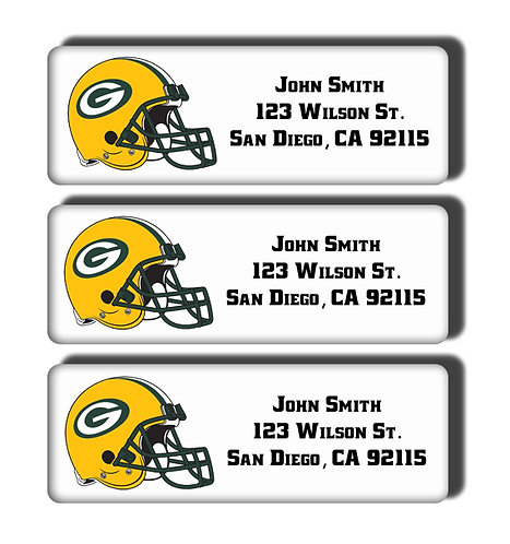 Green Bay Packers Labels