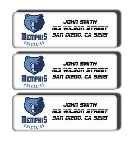 Memphis Grizzlies Labels
