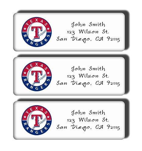 Texas Rangers Labels