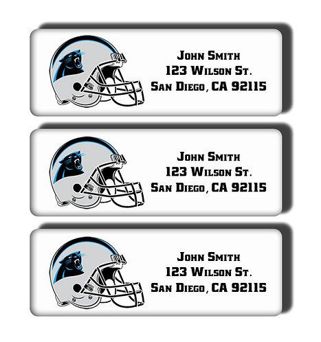 Carolina Panthers Labels
