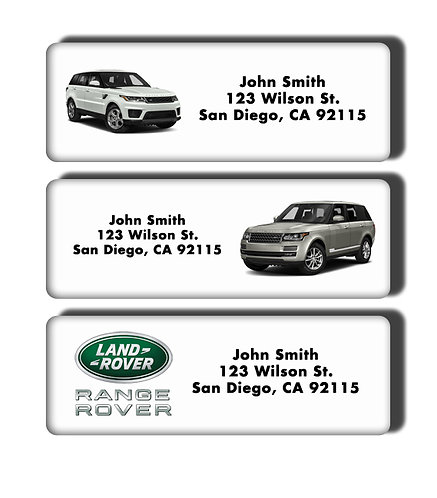 Range Rover SUV Labels