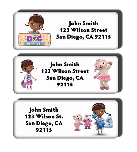 Doc McStuffins Labels
