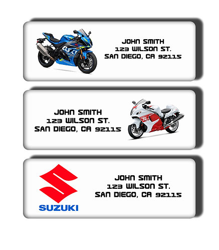Suzuki Motorcycle Labels