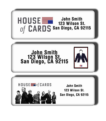 House of Cards Labels