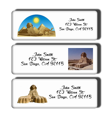 Egyptian Sphinx Labels