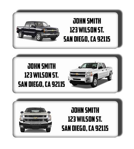 Chevrolet Pickup Truck Labels