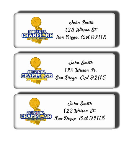 Golden State Warriors - 1975-2017 NBA Championship Label