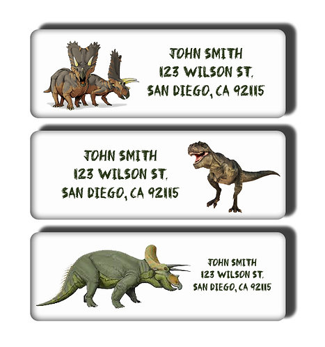Dinosaur Labels