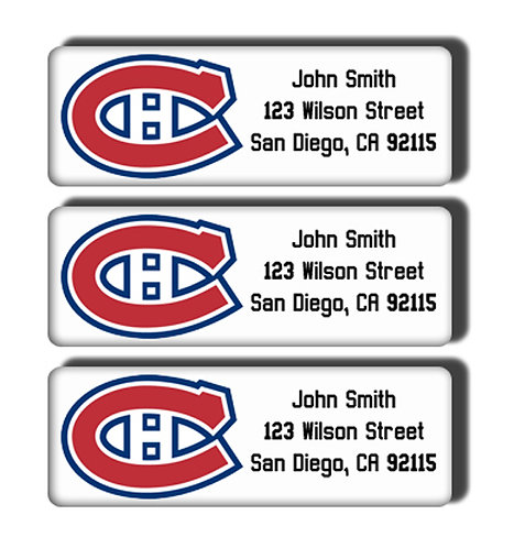 Montreal Canadiens Labels